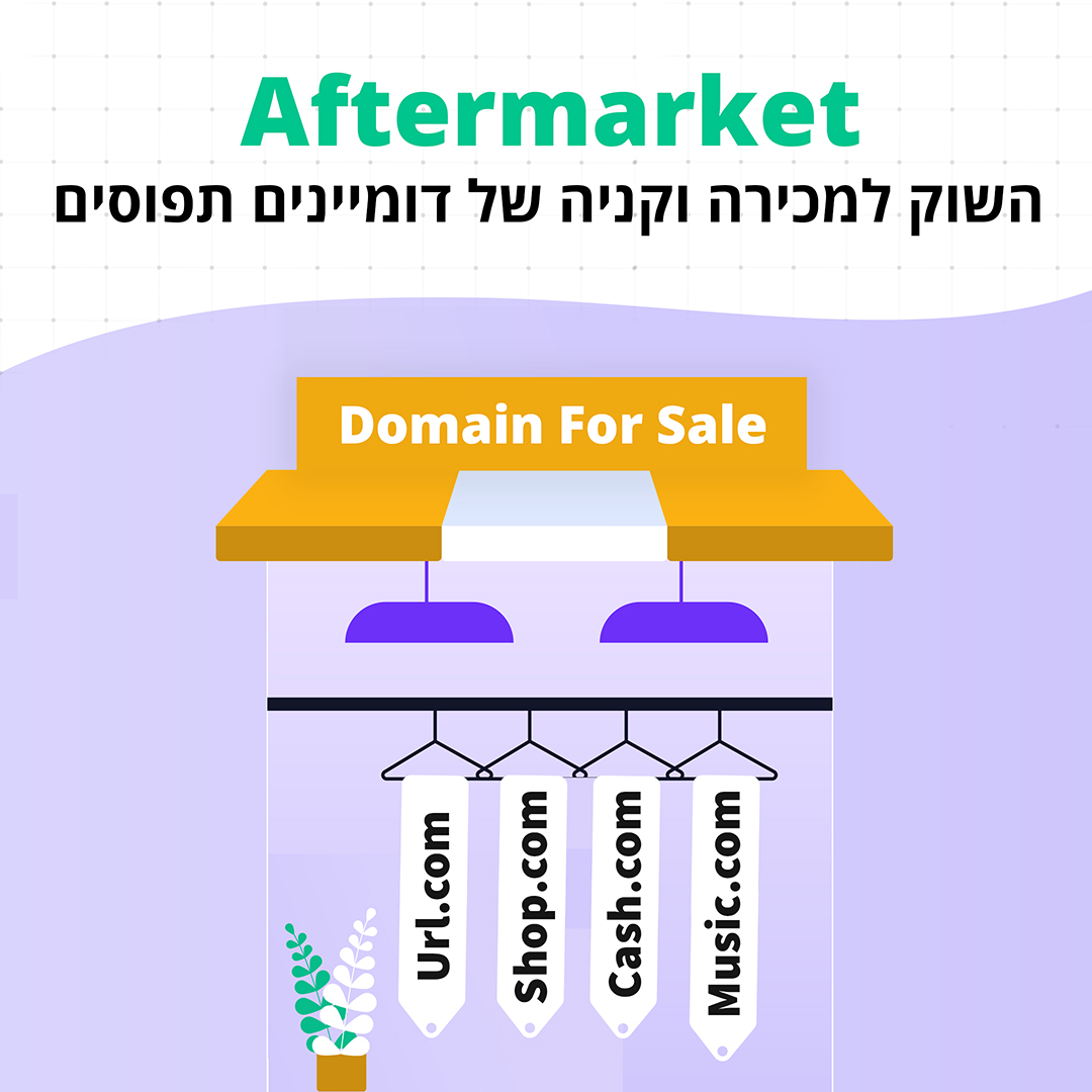 Aftermarket – השוק למכירה וקניה, של דומיינים תפוסים.